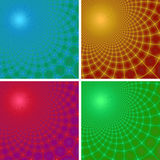 Set of four abstract fractal backgrounds Royalty Free Stock Image