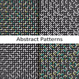 Set of four abstract geometric patterns Royalty Free Stock Photo