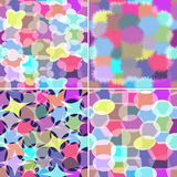 Set of four abstract seamless ornaments Stock Photography