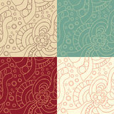 Set of four Abstract seamless pattern Royalty Free Stock Image