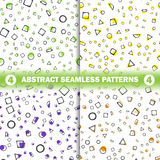 Set of four abstract seamless pattern. Simple style. For web design stock illustration