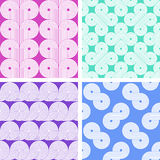 Set of four abstract seamless patterns Royalty Free Stock Images