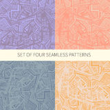 Set of four abstract seamless patterns Royalty Free Stock Image
