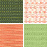 Set of four abstract stripes horizontal seamless Stock Photo