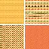 Set of four abstract stripes horizontal seamless. Vector set of four abstract stripes horizontal seamless patterns background with hand drawn shapes Stock Image