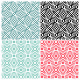 Set of four abstract switch color patterns Royalty Free Stock Images