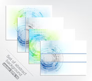 Set of four abstract  technology background. Design with space for your text Royalty Free Stock Photo