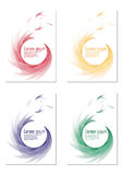 Set of four Abstract vector backgrounds Royalty Free Stock Images