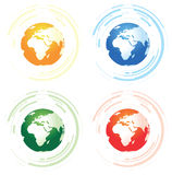 Set of four abstract worlds Royalty Free Stock Image
