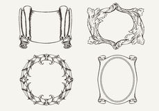 Set Of Four Ancient Banners And Frames. Royalty Free Stock Images