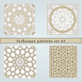 Set of four arabesque seamless pattern royalty free illustration