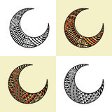 Set of four arabic half moons. Vector set of four arabic half moons Royalty Free Stock Photography