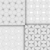 Set of four art deco textures Stock Images