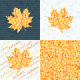 Set of four autumn backgrounds.  Abstract geometric backgrounds Royalty Free Stock Image