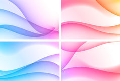 Set of four backgrounds. Set of four beautiful colourful wavy backgrounds Royalty Free Stock Image