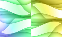 Set of four backgrounds Royalty Free Stock Images