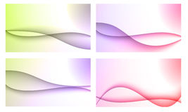 Set of four backgrounds Stock Photo
