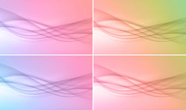 Set of four backgrounds Royalty Free Stock Photos
