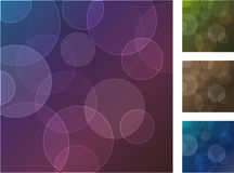 Set of four backgrounds. With bokeh effect. Vector illustration. eps10 Royalty Free Stock Images