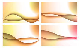 Set of four backgrounds Stock Photography