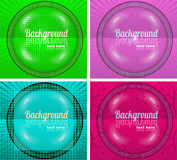 Set of four backgrounds. Set of four banners with place for text Royalty Free Stock Photography