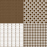 Set of four backgrounds in brown tones Royalty Free Stock Photos