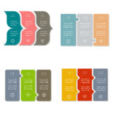 Set of four banner templates with three options. Stock Photography