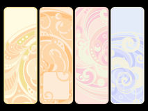 Set of four banners. Set of four spring banners with decoration Stock Photo