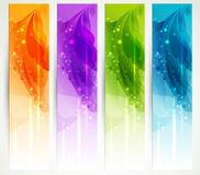 Set of four banners Royalty Free Stock Photography
