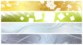 Set of four banners. Stock Image