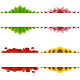 Set of four banners. Stock Photography