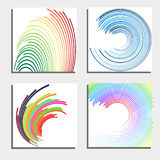 Set of four beautiful abstract backgrounds Royalty Free Stock Images