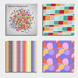 Set of four beautiful abstract backgrounds Royalty Free Stock Photos