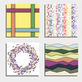 Set of four beautiful abstract backgrounds. Stock Image