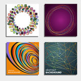 Set of four beautiful abstract backgrounds. Stock Photo