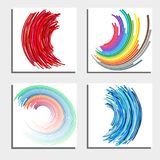 Set of four beautiful abstract backgrounds Stock Images