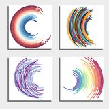 Set of four beautiful abstract backgrounds. Stock Photography