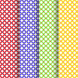 Set of four beautiful patterns vector. Set of four vector beautiful patterns Stock Photo