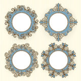 Four beautiful frames Royalty Free Stock Image
