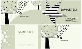 Set of four beautiful spring backgrounds Royalty Free Stock Images