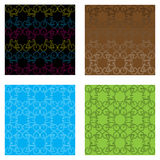 Set of four bicycle patterns Royalty Free Stock Photo