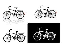 Set of four bicycle pictures Royalty Free Stock Image