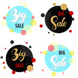 Set of four big sale text backgrounds Royalty Free Stock Photography