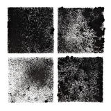 Set of four black stenciled squares Royalty Free Stock Image