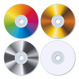 Set of four blank CDs Royalty Free Stock Photos