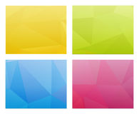 Abstract polygon templates Royalty Free Stock Images