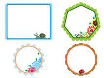 Set of four blossom pattern frame Stock Images