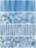 Set of four blue banners Royalty Free Stock Photos