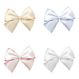 Set of four bows. Royalty Free Stock Photography