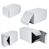 Set of four boxes. Set of four vievs of boxes Stock Images